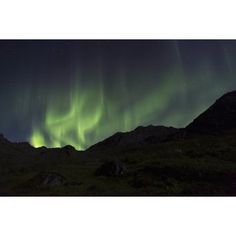 Aurora Borealis (Northern Lights) dancing in the Talkeetna Mountains in Archangel Valley Hatcher Pass South central Alaska Alaska United States of America Canvas Art - Lucas Payne Design Pics (19 x 1