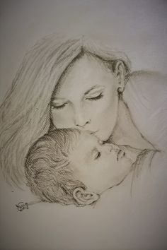 Happy mother's day /pencil drawing