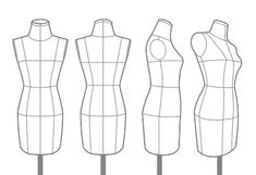 Fashion Design Portfolio, Fashion Design Drawings, Fashion Model Sketch, Fashion Sketches, Fashion Figure Templates, Fashion Figure Drawing, Become A Fashion Designer, Fashion Figures, Sewing Patterns For Kids