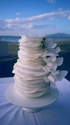 Incredible cake by Taste Fiji Kitchen! Yum ;). #Fiji #wedding