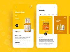 Beer Delivery App by Pablo Barzet 👌 on Dribbble Web Design, App Ui Design, Interface Design, Flat Design, Design Layouts, Dashboard Design, User Interface, Graphic Design, Web Mobile