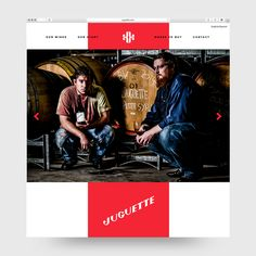 Visual identity and website for wine producer Juguette designed by Firmalt.