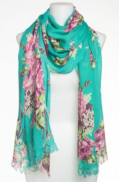 Betsey Johnson Floral Scarf<3