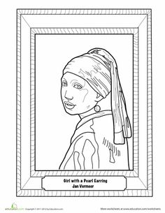 Mona Lisa Coloring Page  Coloring Mona lisa and Feature