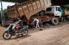Vrachtwagenwerkplaats (Cambodja)