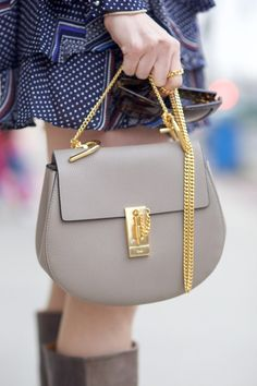 chloe drew bag motty grey