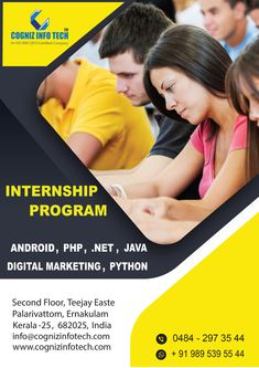 Cogniz Info Tech is one of the best Software Solution Company. CognizInfoTech developing and creating customized software to help individuals & organization. Internship Program, Join Our Team, It Network, Java, Python, Seo, Digital Marketing, Android