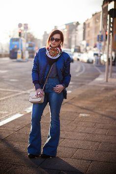 Style Gamblers#fashion#blogger#ootd#streetstyle#bomberjacket#jacket#bershka#70's#flares