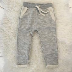 Cuffed Jogger Sweatpants | Grey Melange