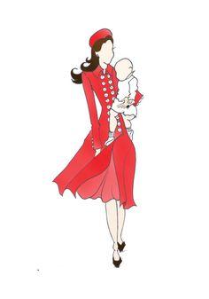 Royal Tour Australia Duchess of Cambridge Kate Middleton Fashion Print…