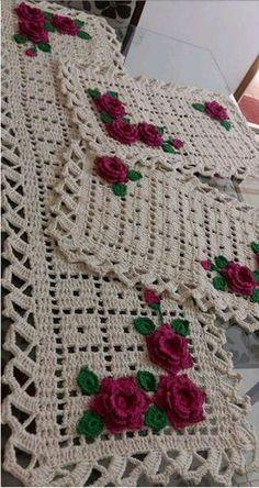 Resultado de imagen para jogo de cozinha tapete croche