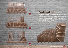 cardboard furniture by designer Ioan Alexandra, via Behance www.behance.net/iax