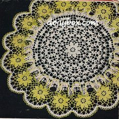 Free Vintage Crochet - Ruffled Pond Lily Doily Pattern