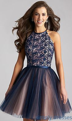Fit and Flare High Neck Madison James Party Dress