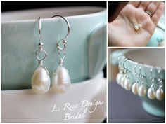 Bridesmaid Gifts Set of FOUR Freshwater Pearl by LRoseDesigns