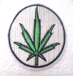 Hemp 420 weed style iron on patch #PATCHES