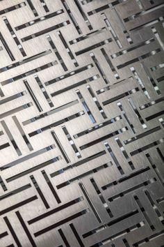 Tôle perforée décorative : idées d'inspiration pour designers. Chez Métal Design Concept. photo : Pierre Grasset