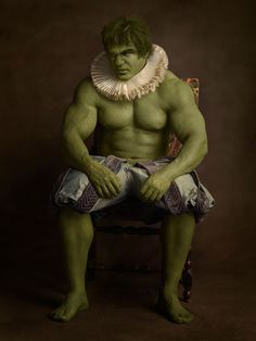 Hulk - Super Flemish is a new photo series by French photographer Sacha Goldberger, known for the iconic superhero images taken of his grandmother, of pop culture characters and comic book superheroes both dressed up and posing for classical Flemish paintings.