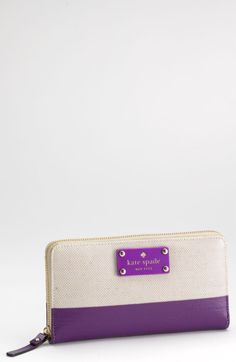 Kate Spade Daycation Lacey Wallet in Purple (natural/ african violet) - Lyst