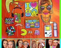 hippie photo booth props perfect for a 60s or by thepartyevent