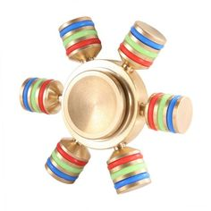 Trusted USA Seller Two Rainbow Heavy Brass Removable Pegs Hand Fidget Spinner