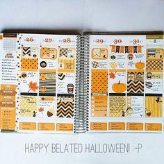 Forgot to post my final spread from last week... Oops! 😘 #halloweenplanner #erincondren #erincondrenlifeplanner #eclp #weloveec #planning #planner #plannerdecorations #stickers #organization #organized #prettyplanner #plannergeek #plannernerd #plannerdecor #halloweenplanning #fallplanner #autumnplanner #halloweenstickers