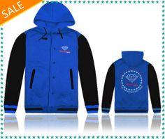 Brand Diamond supply co bitellos diamond blue/black/gray/white jacket and hoodie, male autumn and winter outerwear free shipping $43.86