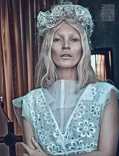 The brilliant Steven Klein photographed Kate Moss for the March 2012 cover story of W magazine, styled by Edward Enninful. The story is titled, 'Good Kate, Bad