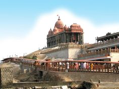 """""""Kanyakumari Temple"""", which is situated within the Southern most tip of India upon a separate island."""