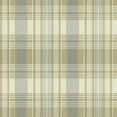 Always in style, never passé, plaid is a perennial favorite. This handsome wallpaper with the authentic appearance of cloth is printed in three attractive color