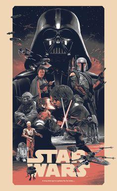 As ilustrações de cartazes de filmes de Grzegorz Domaradzki - Star Wars (Guerra nas Estrelas)