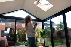 Our Modern Conservatory Extension- Before and After (Home Renovation Project - Mummy Daddy Me Bungalow Extensions, Garden Room Extensions, House Extensions, Modern Conservatory, Conservatory Ideas, Conservatory Extension, Building A Garage, House Extension Design, House Design