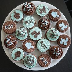 Baby Shower cupCakes For Boys   The Mucky MacBook: Baby boy cupcakes...