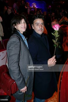Charlotte Gainsbourg and Yvan Attal attend Barbara makes Gerard Depardieu triumph in 'Depardieu Chante Barbara' at 'Le Cirque D'Hiver' on November 19, 2017 in Paris, France.