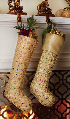 pretty beaded Christmas stockings http://rstyle.me/n/szintr9te
