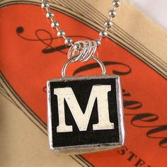Vintage game letter soldered pendant - all 26 letters available