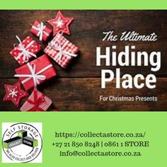 Hiding your Christmas Shopping has never been easier. Collect-a-Store offers short term storage units for your convenience. We also collect and deliver. Self Storage, Storage Units, Hiding Places, Christmas Shopping, Cape Town, The Unit, Store, Collection, Hiding Spots