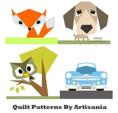 Quilt patterns by Artisania.