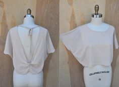 SILK Vintage Open Back Dolman Blouse Top Gina by ItaLaVintage