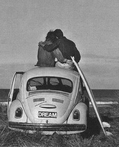 surf | lovers | volkswagen beetle | love | surfing | love | black & white photography | www.republicofyou.com.au