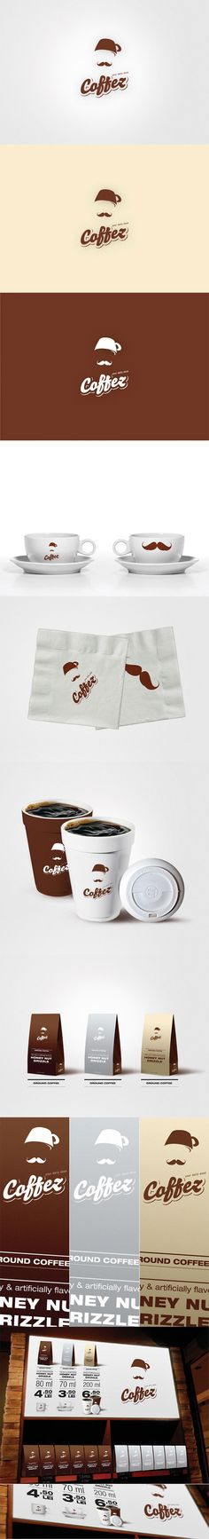 Coffez. Identity proposal for a traditional Turkish coffeehouse chain, by Balazs Szabo.