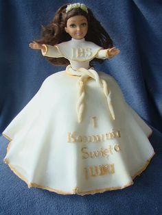 tort barbie -komunia Cinderella, Barbie, Disney Princess, Disney Characters, Disney Princes, Barbie Doll