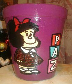 Maceta Mafalda Paz (violeta)