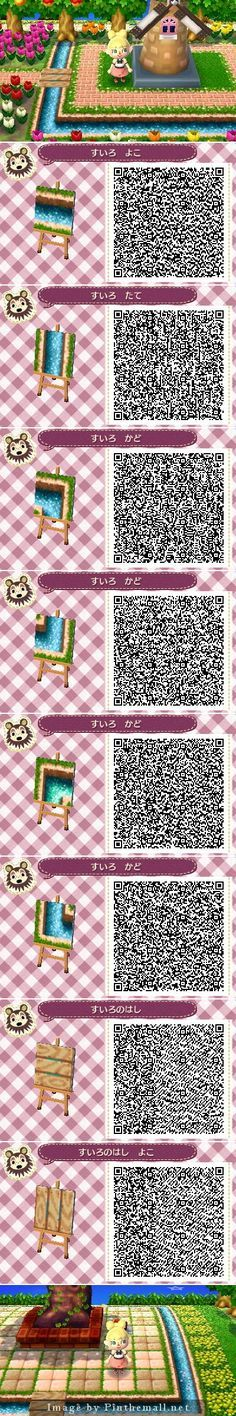 ACNL River Water QR Code.