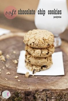 soft thick vegan coconut flour chocolate chip cookies
