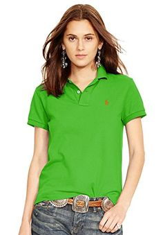 Ralph Lauren Women CLASSICFIT POLO SHIRT M ACTIVE LIME *** You can get more details by clicking on the image.