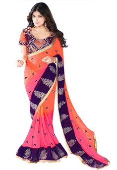 #Embellished #Chiffon #designer #Trendy #Ethnic #Lakme #Fashion #Harper #2015 #Summer #Spring #Fantabulous #Beautifull #Gorgeous #Stunning #Saree #Bollywood