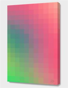 """""""Bright Color Trend"""", Numbered Edition Canvas Print by danny ivan - From $69.00 - Curioos"""