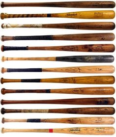 Vintage Baseball bat collection