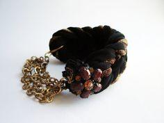 Fabric #Bracelet Black #Braided Bracelet Bracelet by #DesignHappyDay